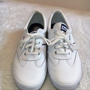 Keds White Leather Craze II Ortholite Shoes Sz 9